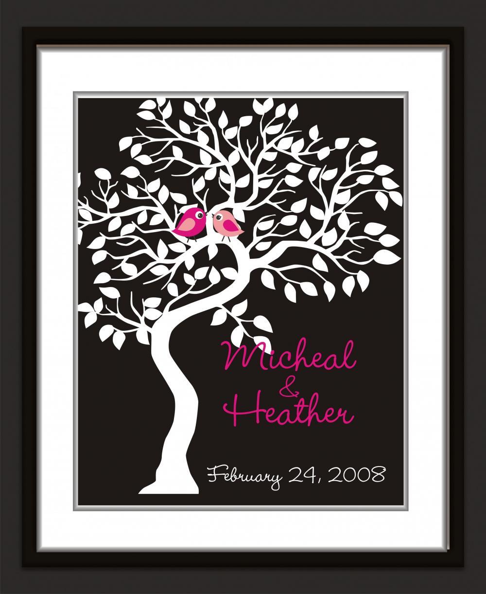 Wedding Guest Signing Tree: Wedding Signature Tree-guest Book Alternative 18x24 100