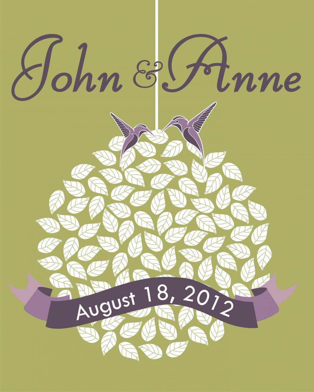 Wedding Guest Signing Tree: Wedding Guest Book Alternative: Wedding Signature Tree 150